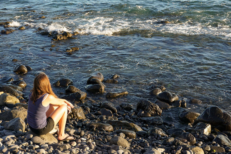 Beach Eye4photography  Lifestyles Ocean People Of The Oceans Sea Shore Stone - Object Tranquil Scene Water Original Experiences Tenerife SPAIN Feel The Journey Showcase June My Favorite Place People And Places #FREIHEITBERLIN
