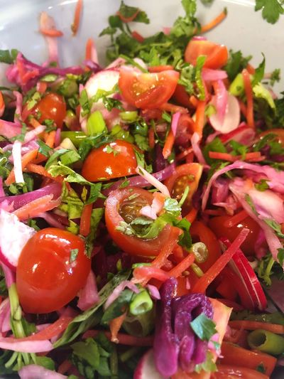 SLAW Salad Healthy Food And Drink Food Healthy Eating Vegetable Wellbeing Freshness Fruit Tomato Salad Root Vegetable Onion Plate