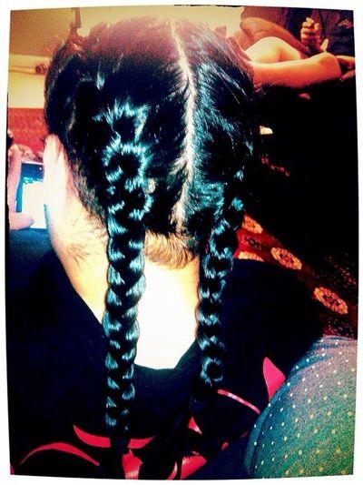 My Wifey Braided My Hair Last Night ;)