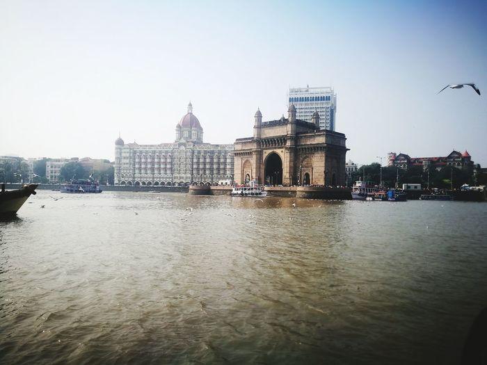 We've Arrived The Original Taj The Taj Mahal Palace Hotel Gatewayofindia Mumbai Ocean View Ferryboat Politics And Government City Cityscape Urban Skyline Water Sky Architecture Built Structure The Traveler - 2018 EyeEm Awards