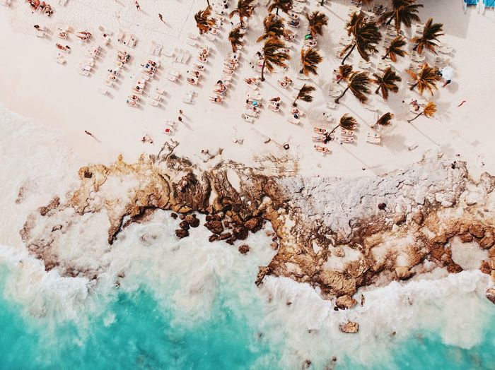 Aerial View Of Scenic Beach