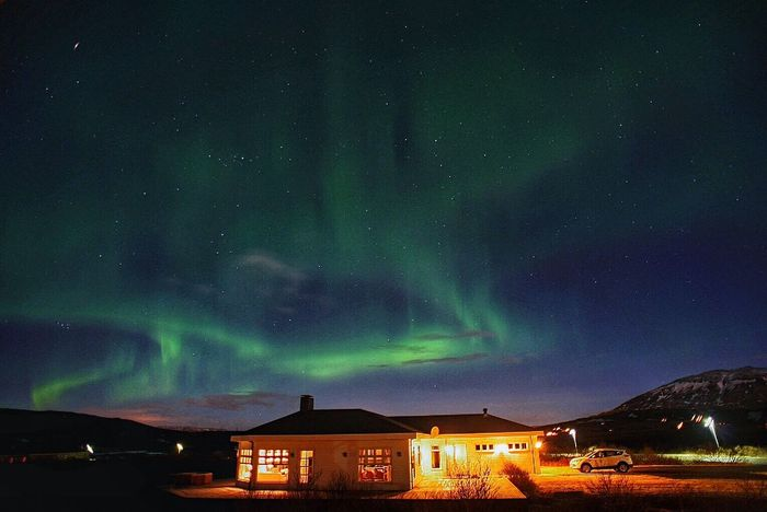 Enjoying Aurora Aurora Northern Lights Iceland Above The Sky Green Green Color Beautiful Nature Light Curtain Beautiful Sky In The Dark Landscape Fresh On Eyeem