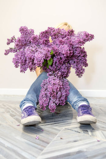 'Bloom where you are planted...' Close-up Flower Fragility Freshness Indoors  Lilac Lilac Flowers No People Purple