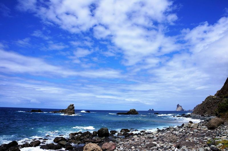 Sea Beach Travel Destinations Water Cloud - Sky Nature Tourism Outdoors Coastline Sky Sand Vacations No People Horizon Over Water Day Tenerife Wave Nature Blue Beauty In Nature
