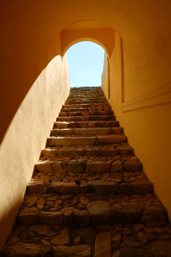 Elvas Escadaria Forte De Santa Luzia Portugal Alentejo Ancient Civilization Architecture Built Structure Day Fortified Wall History Low Angle View Portugal_em_fotos Portugaldenorteasul Steps Steps And Staircases