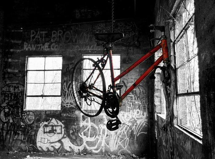 Urban Exploration Abandoned Buildings Old Bike Color Splash