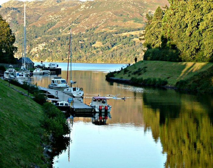 The Great Outdoors - 2016 EyeEm Awards West Coast Scotland Caledonian Canal Loch Ness Beauty In Nature Water Reflections Boats And Moorings Nature Scenery_collection