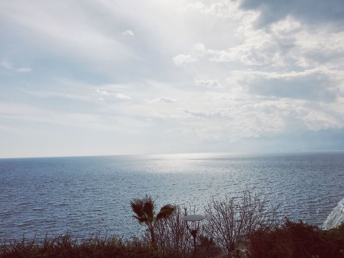 Antalya Turkey sk Sky Nature Sea Beauty In Nature Scenics Tranquil Scene Water Tranquility Horizon Over Water Outdoors Growth Plant No People Cloud - Sky Day