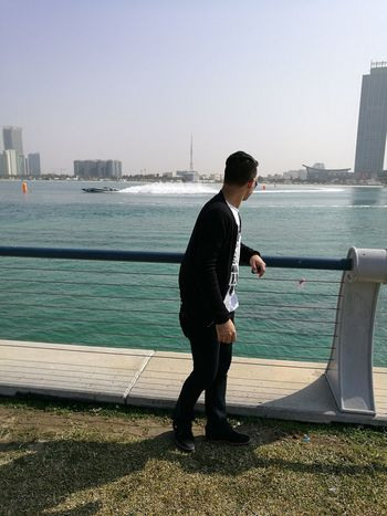 Only Men Sea Sport Water Beach Nature Outdoors City Man In Black