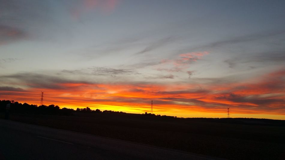 horizonte atardecer Colour Your Horizn Sunset Dramatic Sky Atmospheric Mood Tree Field Cloud - Sky Tranquil Scene