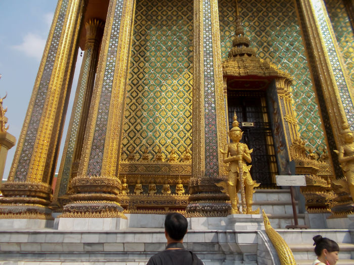 Thailand Bangkok Buddha Travel Gold Colored Wat Phra Kaew Yellow Close-up Golden Pagoda Golden Color Gold Religion Travel Destinations Building Exterior Old Buddha Art And Craft Old Buddha Statue Large Group Of People Real People Day People Outdoors Statue Site Down Buddha Buddha Standing