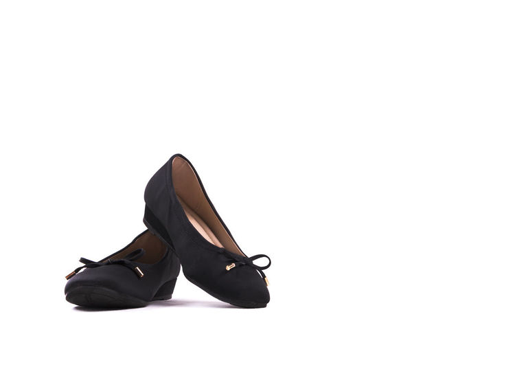 Business Dark Fashion Foot Heels Interview Isolated Office Woman Work Black Cloth Footwear Formal Job Lowheels Pair Product Shoes Wear White
