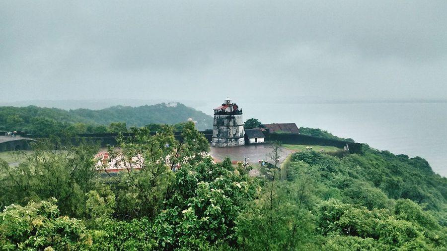 Goa ❤❤ Fort Light House On Dramatic Sky Seaview Love Goa