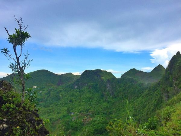 Mountain Beauty In Nature Nature Sky Scenics Mountain Range Cloud - Sky Outdoors Day Green Color Landscape Tree Hill Adventure Travel Destinations Scenery Tourism Blue Sky Osmeña Peak Cebu City, Philippines
