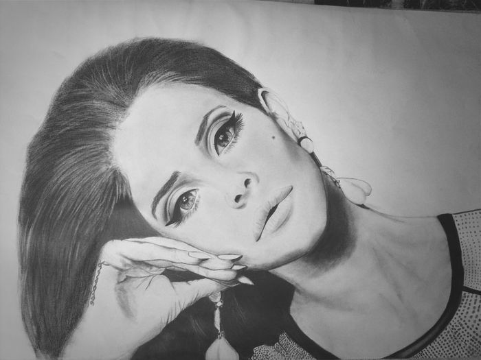 Lana Del Rey❤️ Art #illustration #drawing #draw #tagsforlikes #picture #photography #artist #sketch #sketchbook #paper #pen #pencil #artsy #in Pencil Drawing I Love Her <3
