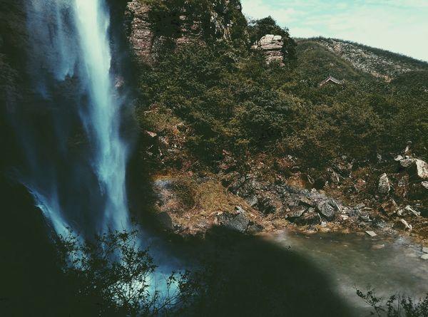 Agua Baijiayan 百家岩 云台山 雨后 瀑布 Sault  La Cascada