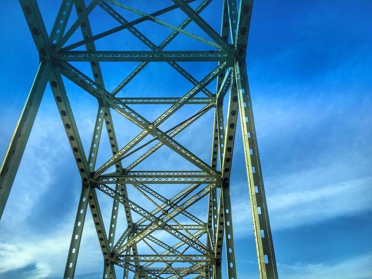 Fire Island Inlet Bridge Adifferentpointofview Fireisland Bridges Longisland Blue Sky Steel Structure