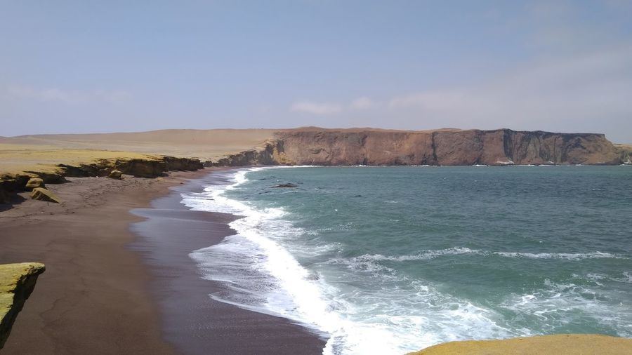 Paracas-Ica Peru Beach Beauty In Nature Paracas Paracas National Park Scenics - Nature Sea Tranquil Scene Water