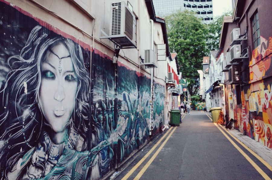 Haji Lane, Singapore Building Exterior Architecture City Ricoh Travel With Gr2 Gr2 Lifestyles Graffiti Colour Of Life Urban Landscape Hello World Travel Lonelyplanet Singapore