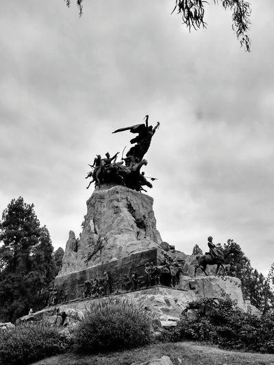 Statue Sculpture Outdoors Sky Representing Day Sanmartin Travel Destinations