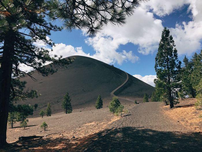 Cinder Cone Volcano Volcanic  Nature Landscape Roadtrip USA California Steep Trail Travel Wanderlust Hike Hiking Lassen Volcanic National Park Cinder Cone