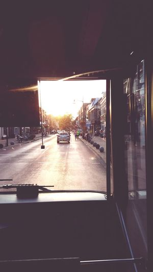 Running Sun Tramp Ride Town Texture Sunset Quiet Lovely Peace Cars Road Velp Netherlands Arnhem FrontSeat