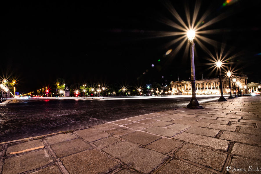 Paris Champs Elysees City Lighting Equipment Long Exposure Longexposure Longexposurephotography Night Outdoors Place De La Concorde Street Street Light HUAWEI Photo Award: After Dark