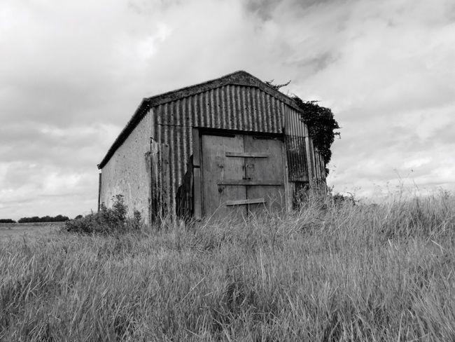 Hen ysgubor Barn Old Buildings Farm Caint Kent England Old Rusty Stourmouth Nature Lloegr