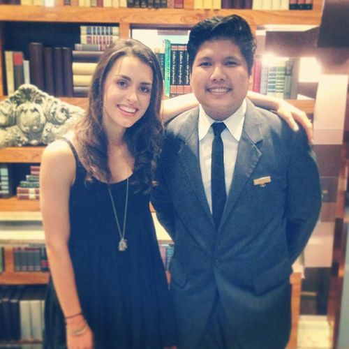 """Cute and so nice, it's my pleasure to have photo with her """"Kathryn Mccormick"""" the leading actress of Step Up4. ^^ Actress StepUp4 Kathrynmccormick"""