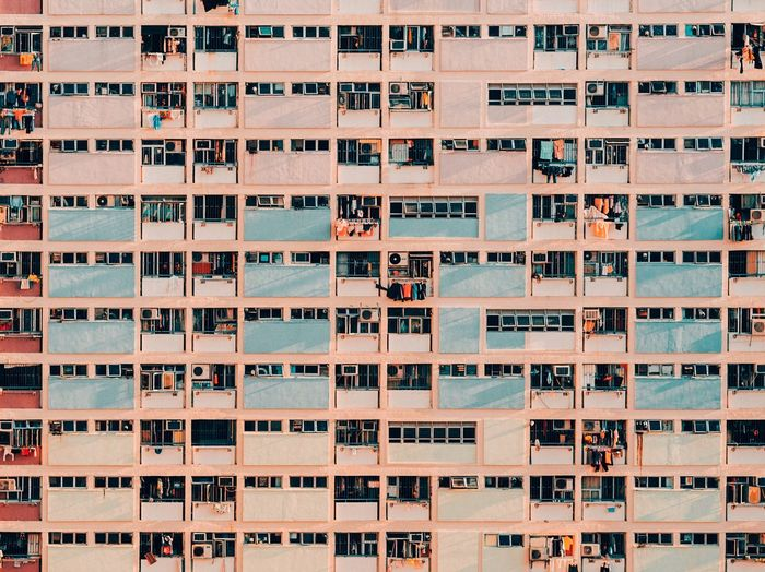 🌈🏢 Eye Rainbow Full Frame Community Window Residential Building Day Architecture City Apartment Building Exterior No People
