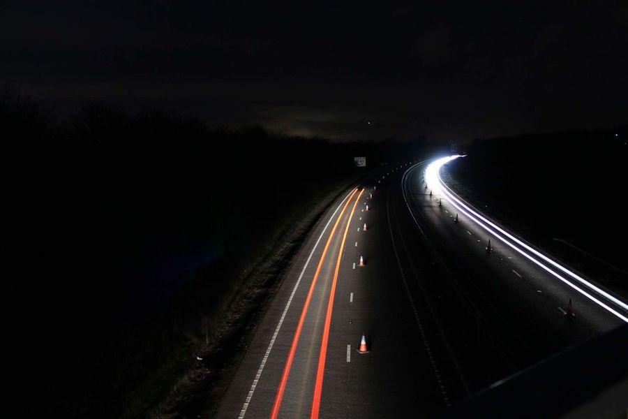 Nightphotography Night Light Trail Braintree Essex