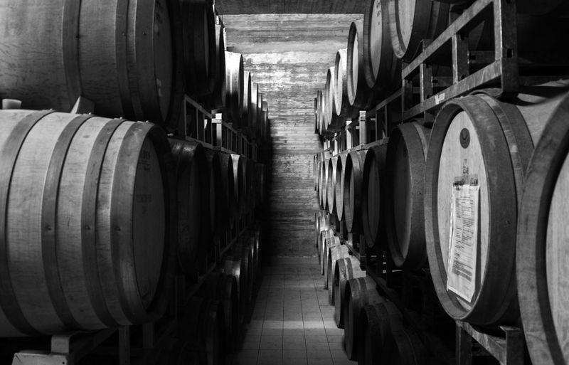 Sicily Ethna Wine Cask Barrel Cellar Basement Industry Winemaking Wine Winery Warehouse Wine Cellar