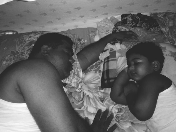 Likefatherlikedaughter Father Daughter Sleeping Bedroom Bed Togetherness Single Father Family With One Child One Parent