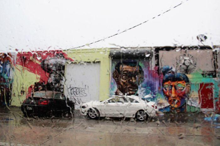 Rainy day with graffiti. Miami, FL Wynwoodwalls Wynwood Art Walk Street Photography Travel Photography Traveling Love To Travel