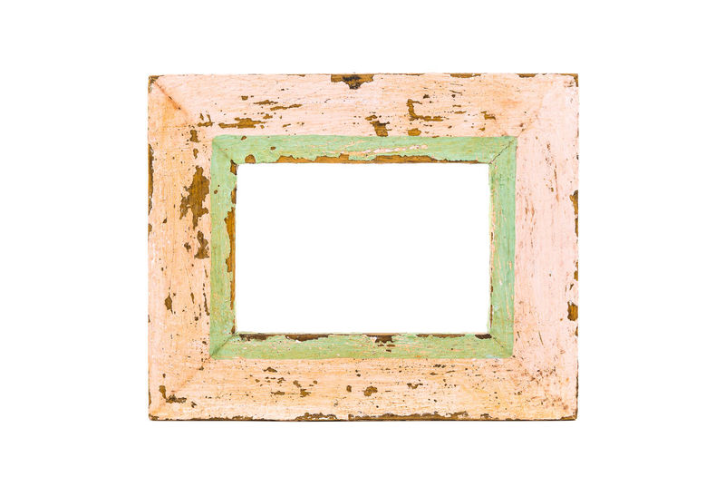 Antique Blank Cut Out Day Empty Frame Old Old Rose Old-fashioned Photograph Picture Frame Retro Styled Single Object White Background Wood - Material