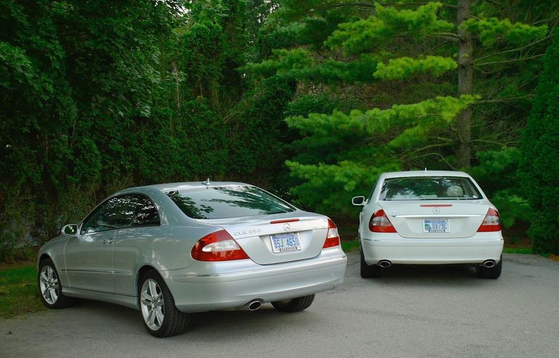 Mercedes-Benz CLK 350 E 350 Wealthy Pure Class Luxury Car Luxurylifestyle  Side By Side Driveway