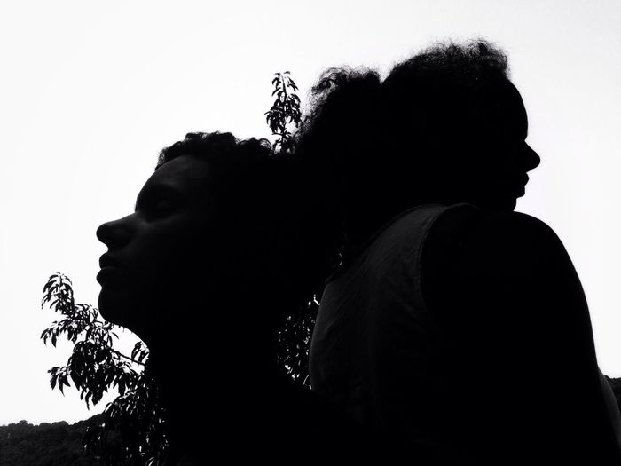 The two of us Two People Young Men Silhouette Young Women Real People Young Adult Togetherness Leisure Activity Side View Men Love Clear Sky Lifestyles Couple - Relationship Bonding Women Sky Outdoors Day People The Week On EyeEm
