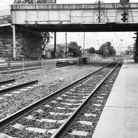 Paoli Station. Railroad Track Rail Transportation Transportation Railroad Station Platform Railroad Station Day Outdoors Built Structure Sky No People Public Transportation