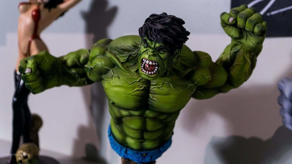 Comic Hulk Sony A6000 Sony Mirrorless Athens Comicon Comicon 2016 Close-up Indoors  Green Color Strength Fury Angry Statue Sonyalpha No People Hand Made Classic