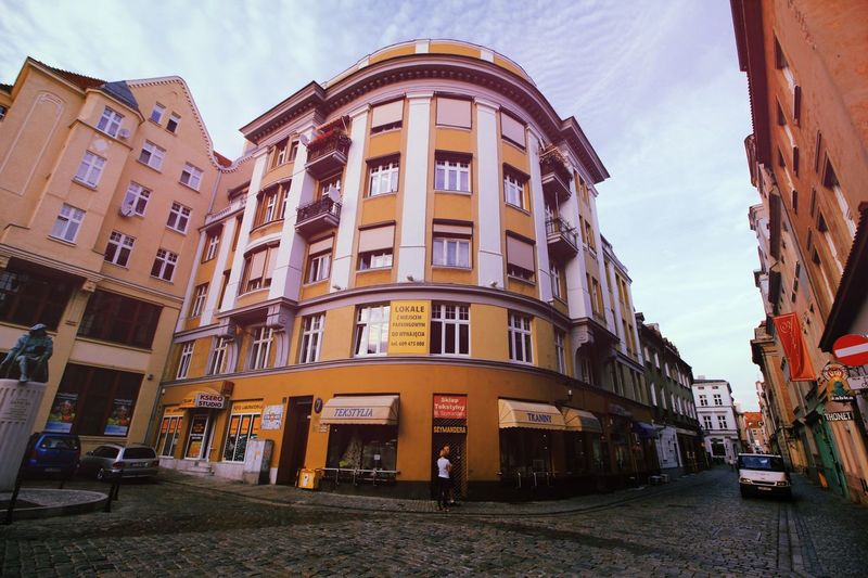 A day in Poznań Poznań Poland Europe Street Sunset Evening City Sky Architecture Building Exterior Built Structure Art Deco Historic 1930-1939 Façade Historic Building Arch #urbanana: The Urban Playground