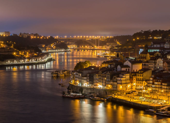 Nightlife in downtown porto
