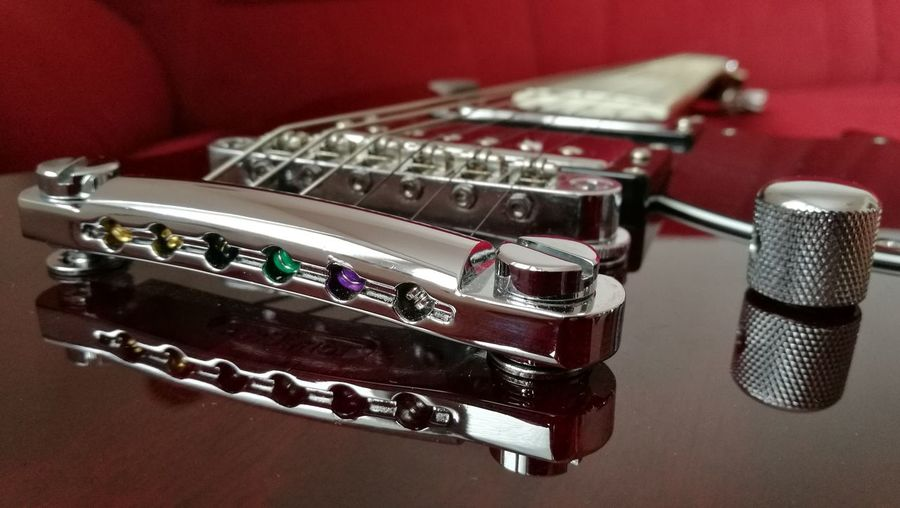 My ESP LTD Viper-1000 electric guitar, detail of the bridge. Nice piece of work. And how it sounds! 😁 Red Music Musical Instrument Guitar Electric Guitar Details Of My Life Detail Guitar Bridge Strings Chrome ESP LTD Visual Creativity