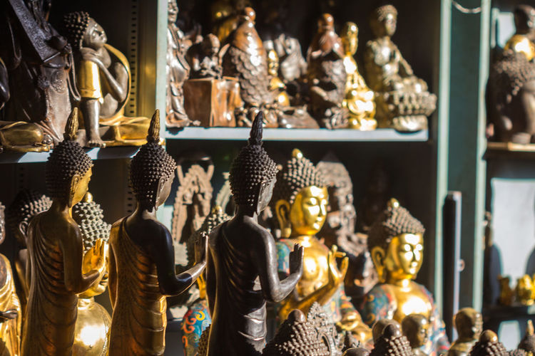 Buddha statues for sale at store