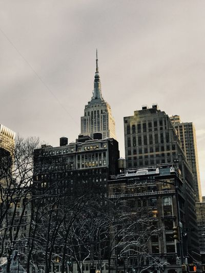 Building Exterior Built Structure Architecture Sky New York City City Manhattan Photooftheday Landscape Photographer Photography Photoshoot Illuminated Empire State Building