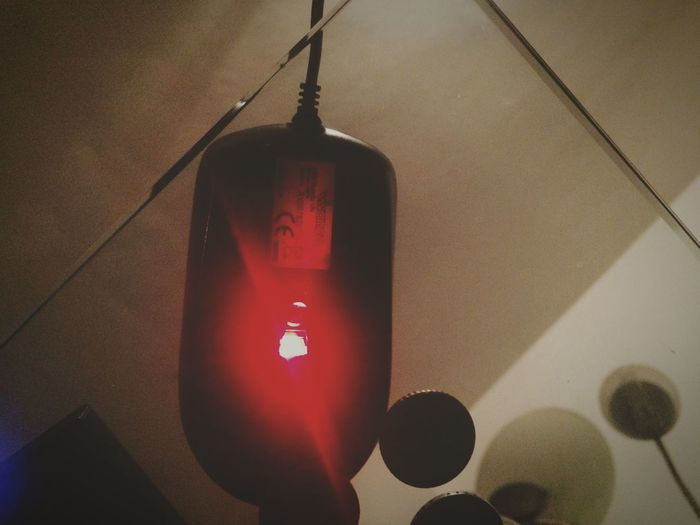 Illuminated Hanging Electric Light Ceiling Mouse Red Cable Lit