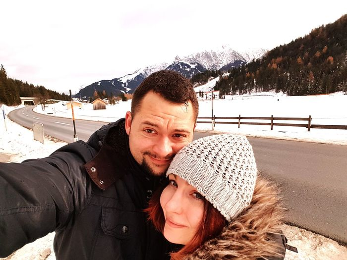 My And My Love Dreamwoman Snow Winter Cold Temperature Happiness Day Mountain Outdoors Warm Clothing