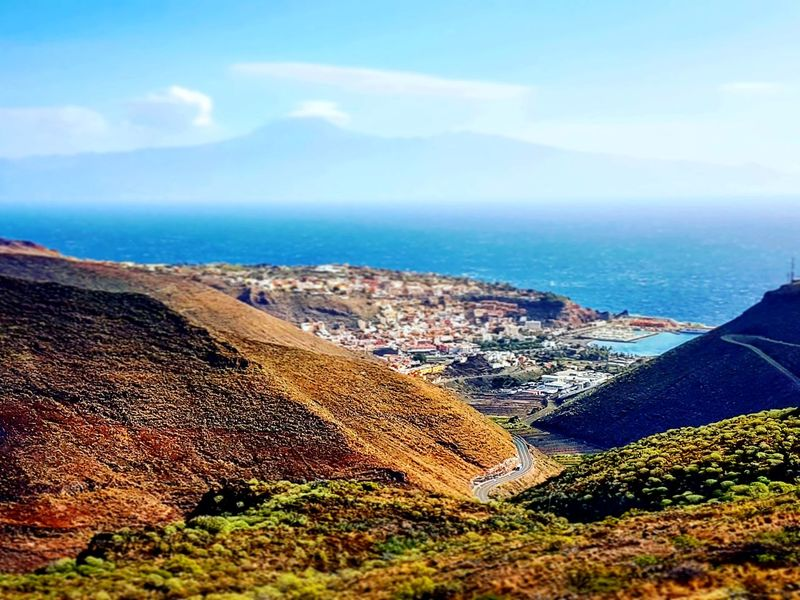 La Gomera, Canary Islands. Sky Outdoors Nature Sea Scenics Beach Day Cloud - Sky Beauty In Nature Sand Tree Mountain No People Canary Islands Nature_collection LaGomera LaGomeraIsland EyeEmNewHere Playa Canarias Mountain View Mountain_collection Quietness Travel Destination Sunlight