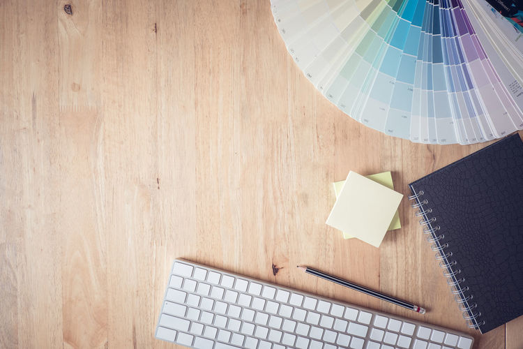 Concept Topview of creative or Interior designers desk with work stuff Artist Creativity Desk Graphic Modern Office Workplace Workshop Close-up Color Colorful Concept Design Designer  Flat Lay Lift Style Mockup Professional Table Top View Wooden' Workspace First Eyeem Photo