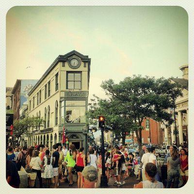 Portland art walk Portland Maine Firstfridayartwalk Oldport Congressstreet Crowd Street Hipsters