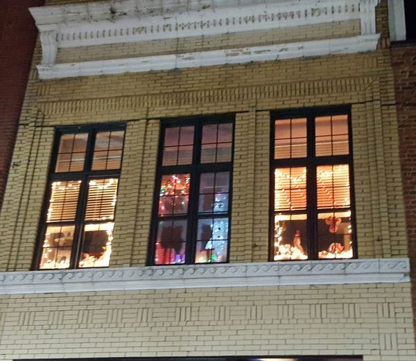 Upstairs apartment lit up Architecture Built Structure Window No People Steps Building Exterior Outdoors Christmas Is Coming Spartanburg, SC Christmas Festival Love My Life  Out And About Multi Colored Outdoor Photography Christmas Lights
